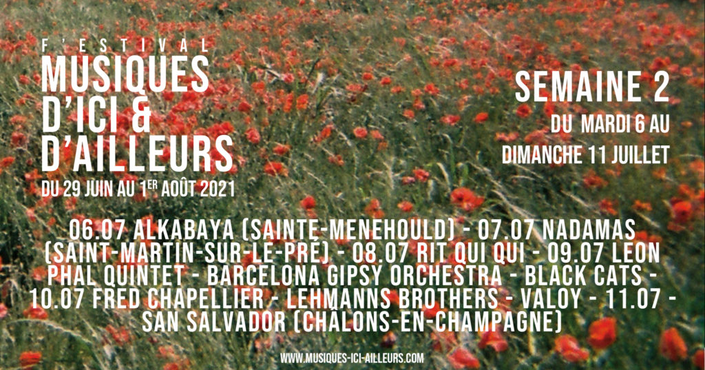 Festival MIA Annonce artiste Semaine 1 Bandeau
